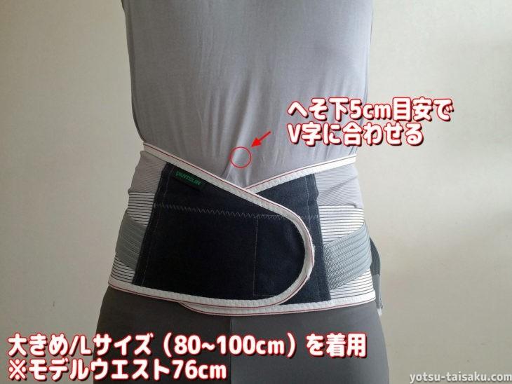 バンテリンサポーター腰椎コルセットの着用感