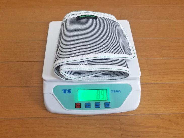 バンテリンサポーター腰用の重量