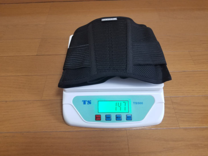 メディエイドサポーターしっかりガード腰アクティブの重量