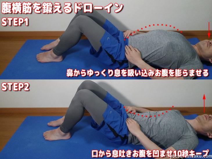 腰痛予防に繋がる腹横筋を鍛えるドローイン