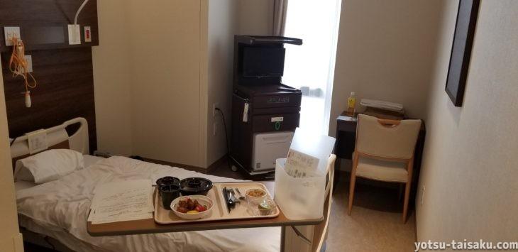 ヘルニコア当日の病室の様子