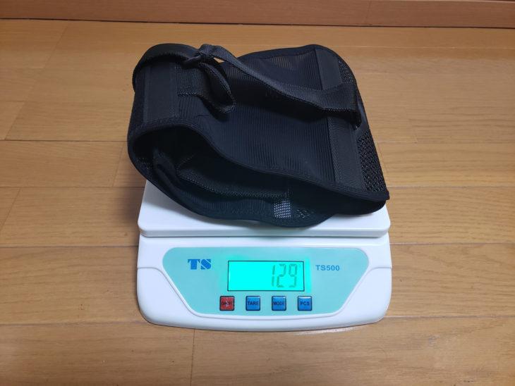 コナミスポーツクラブ-腰椎固定ベルトパワフルギアワイドタイプの重量